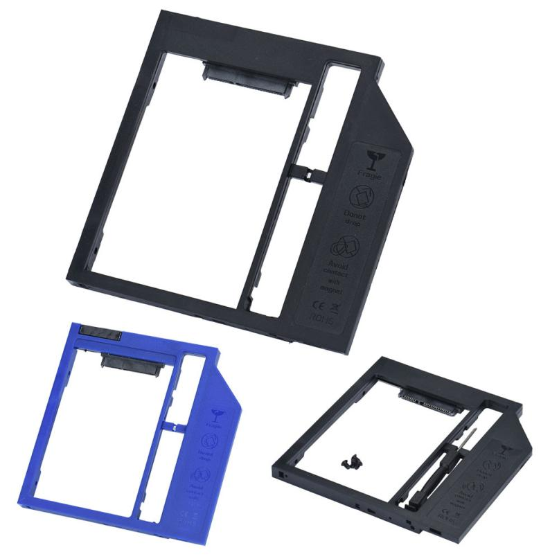 9mm SATA Second HDD SSD Hard Drive Caddy for Laptop CD/DVD-ROM Optical Bay_KXL0817 laptop internal 2nd 1tb 2 5 hdd second hard disk dvd optical drive bay caddy for dell inspiron 9300 1300 1440 1420 17200 case