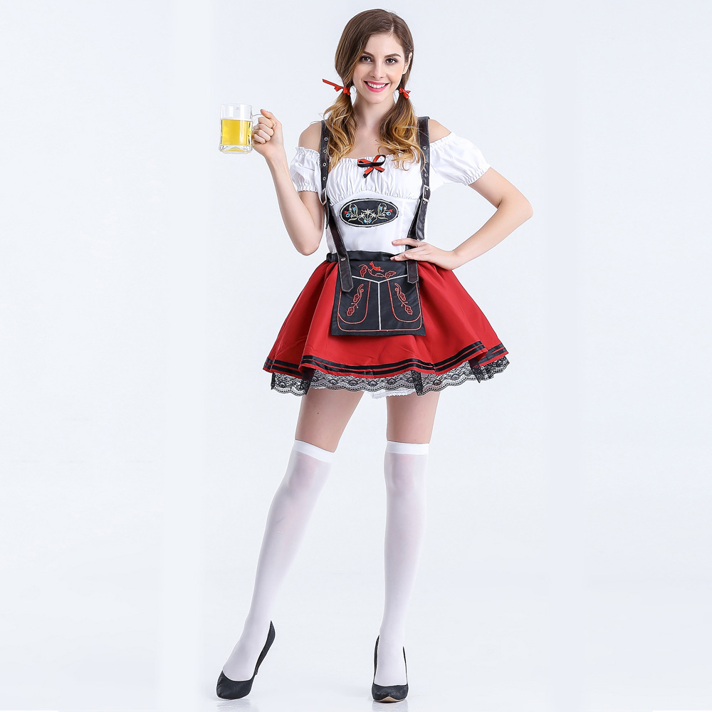 Plus Size Maid Fancy Dress Cosplay German Beer Girl -7573
