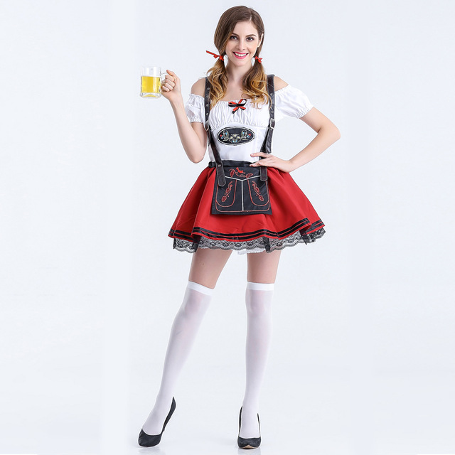 Plus Size Maid Fancy Dress Cosplay German Beer Girl Costume Sexy ...
