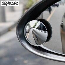 2 шт., 360 градусов, Безрамное маленькое круглое зеркало заднего вида, слепое пятно, стекло, зеркало для Volkswagen vw POLO Tiguan Passat CC Golf GTI