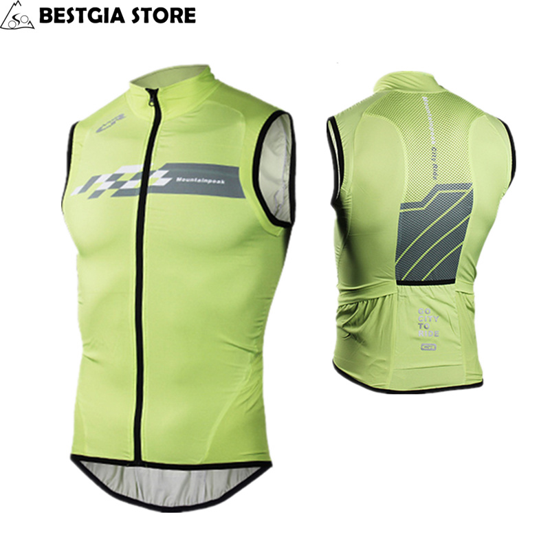 New Windproof Bicycle Vest Sleeveless Breathable Cycling Reflective Jacket Vest MTB Road Bike Racing Jersey Top Cycle Wind Coat