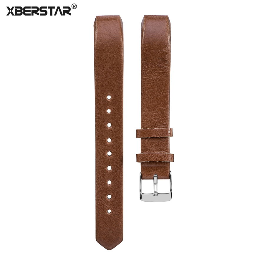 XBERSTAR Watchband Strap for Fitbit Alta Hr replacement band Genuine Leather for Fitbit Alta Fitness Tracker high quality stainless steel bracelet watchband strap for fitbit alta watch band wristband replacement band strap