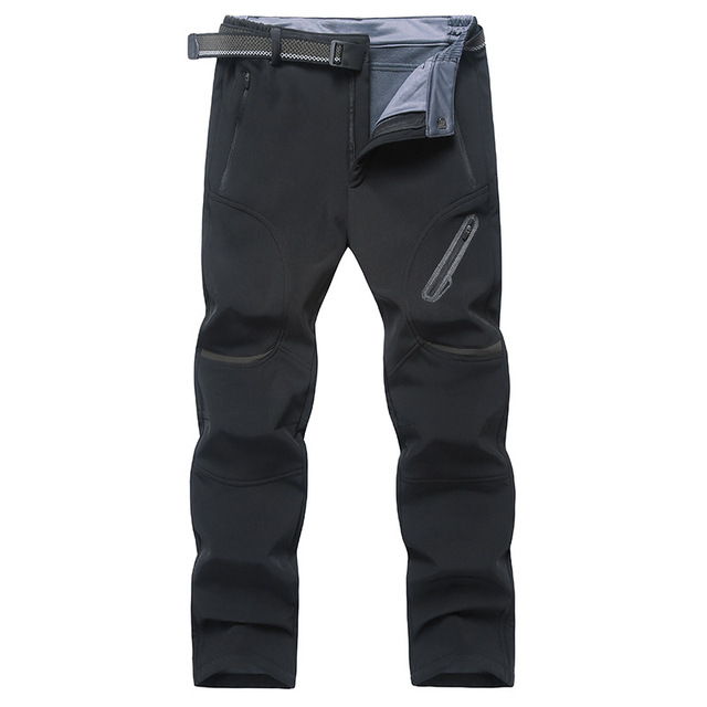 Men Pants Winter Fleece Quick Dry Pants Breathable Thermal Waterproof Pants Plus Size 9xl