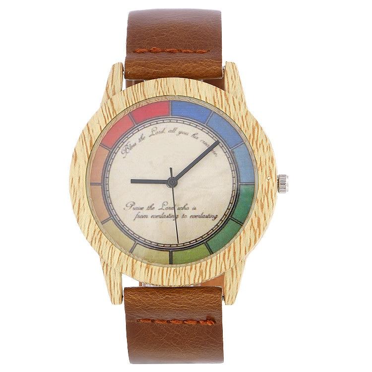 2020 Hot Sale Men's Wooden Watch Leather Wristwatch Good Quality Quartz Women Wristwatches Wood Watch Top Gift Item Casual Watch