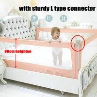 Trilho da Cama de malha para Crianças  New 80 cm Heighten Guarda Cama para As Crianças  cama Cerca pode Cair Verticalmente  Barreira De Segurança Cama