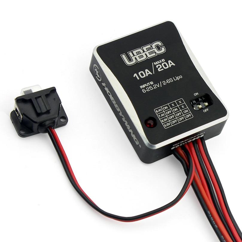 Hobbywing 10A 2-6 S UBEC para UBEC-10A externa BEC de conmutación modelo DC-DC regulador Accesorios
