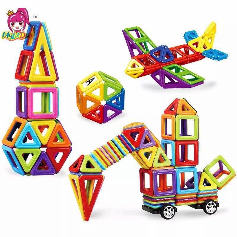 45-244 шт. Мини Магнитный конструктор Модель & строительные пластиковые магнитные блоки образовательные игрушки для детей, подарок