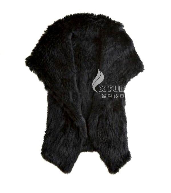 Style Noir De kaki b Fourrure 38 Cx Lapin Réel Gilet Date g Tricoté b76ymYgfIv