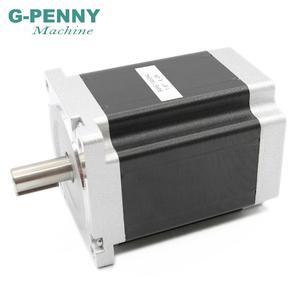 Image 4 - NEMA 34 מנוע צעד 86X114mm 8.7 N. m 6A 14mm פיר דורך מנוע 1172Oz in עבור CNC לייזר חריטת מכונה