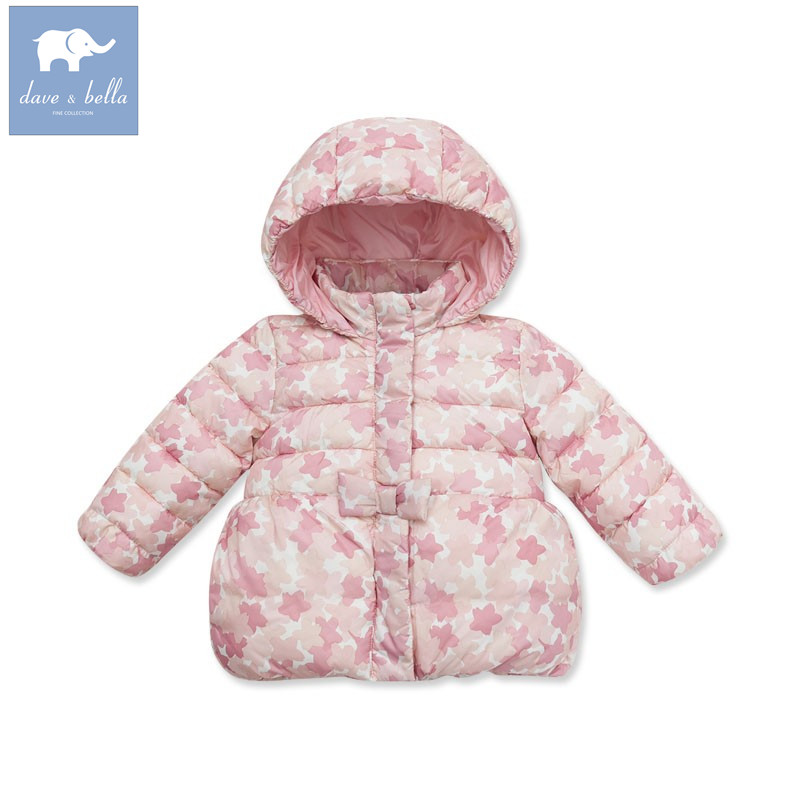 DB3000 dave bella winter infant coat baby girl cute jacket padded jacket girls outerwear girls wadded