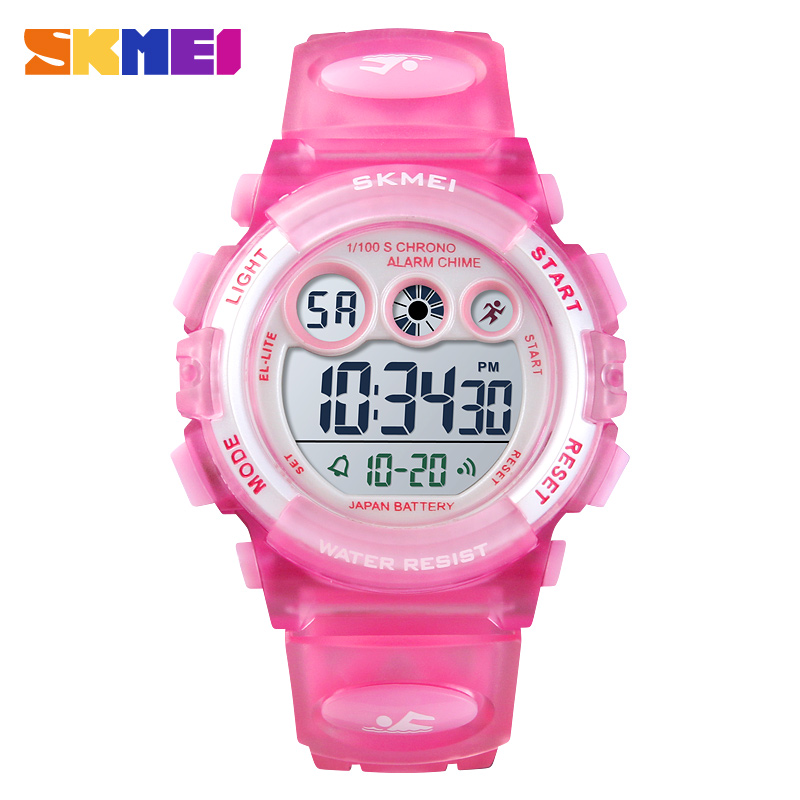<font><b>SKMEI</b></font> Children Sports Watch Waterproof LED Digital Watch Boys Kids Alarm Fashion Watch for Children Girl Gift Reloj Deportivo image