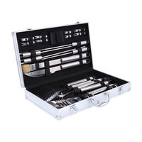 Ship From UK 21PCS BBQ Grill Cooking Utensils Tool Set Stainless Steel Barbeque Portable Case