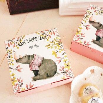 12*12*4.5cm Kraft Paper Cake Box Food Boxes Gift packing Boxes 100pcs/lot Free shipping