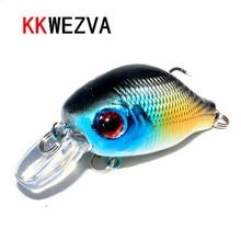 KKWEZVA 1pc 8G 5.5CM Bass Fishing Lures Crank Bait Crankbait Tackle Swim bait wobblers fishing japan Hard Crazy Fish Lure