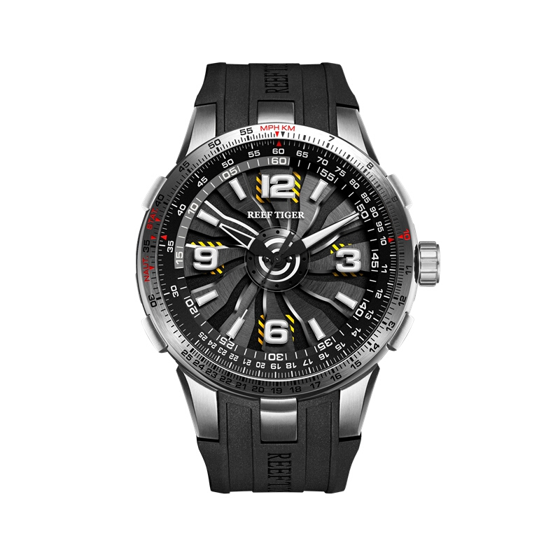 Reef Tiger Aurora Serier RGA3059 Men Fashion Sport Flight Dashboard Rotation Trubine Dial Automatic Mechanical Wrist WatchReef Tiger Aurora Serier RGA3059 Men Fashion Sport Flight Dashboard Rotation Trubine Dial Automatic Mechanical Wrist Watch