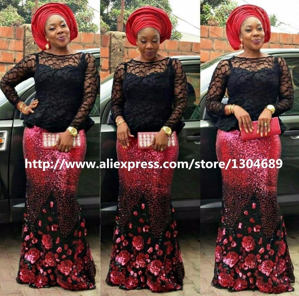 JL101 nuevo encaje de red francesa con lentejuelas, tela de encaje de malla de tul africano nigeriano de alta calidad para vestido de boda de fiesta 5 yardas/lote-in encaje from Hogar y Mascotas    1
