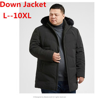 Plus 10XL 9XL 8XL 6XL 5XL 2018 NEW harsh winter goose down jacket for men thicken outwear real fur hooded waterproof windproof