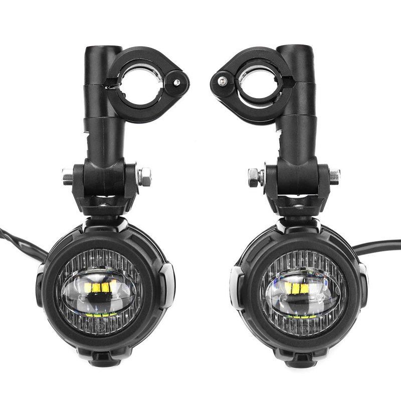 FADUIES paire universel moto LED auxiliaire antibrouillard assemblé lampe de conduite 40 W phare LED pour BMW K1600 R1200GS ADV