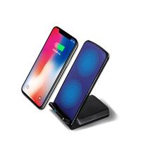 MIXZA LS01 Leather Magnet Qi Wireless Charger Fastfor Charger IPhone 8 X Charging Pad For Samsung