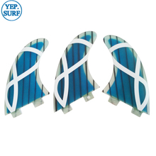 Surf surfboard Quilhas FCS Fins G5 Blue Black White Fibreglass Honeycomb Fin Thruster quilhas fcs