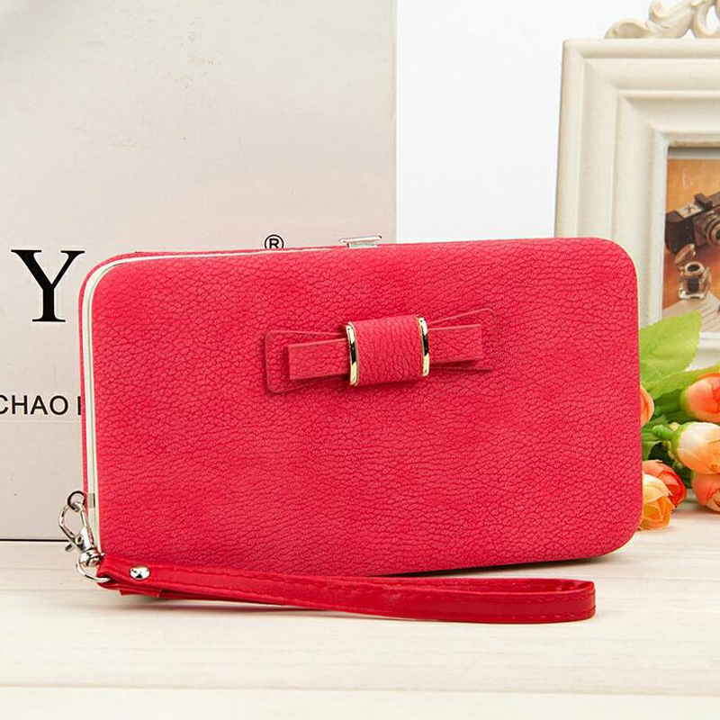 Womens wallets and purses Brand leather purse Female Zipper Fashion woman slim wallet Dollar Price phone Card Holder Long wallet