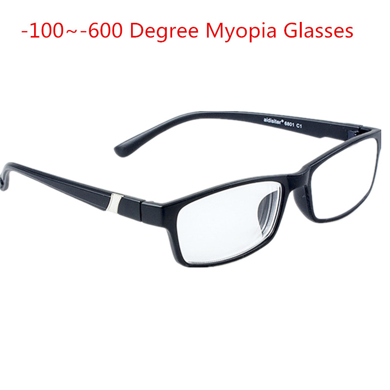 -1.0 -1.5 -2.0 -2.5 -3.0 -3.5 -4.0~-6.0 MyopiaMemory Frame HD Resin Finished Myopia Glasses Men Women Shortsighted Eyeglasses