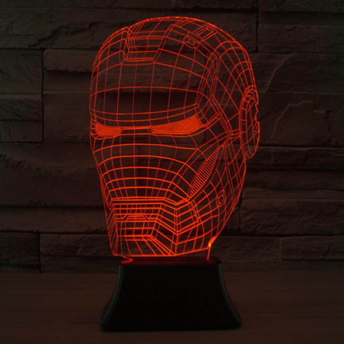 Free Shipping Iron Man Mask Style 3D Table Lamp Christmas Led Lamp Decor  Living Room Night Light Best Gift For Child And Friends In Night Lights  From Lights ...