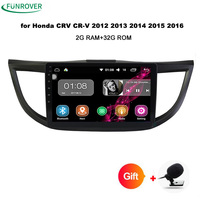 Funrover 10 1 2Din Android 8 0 Car Radio Player GPS Navi For Honda For CRV