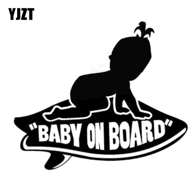 68bcd1fa365c63 YJZT 17.8CM 15.2CM Baby GIRL on Board Vans Surfboard Vinyl Decal Sticker  Black Silver C10-00043