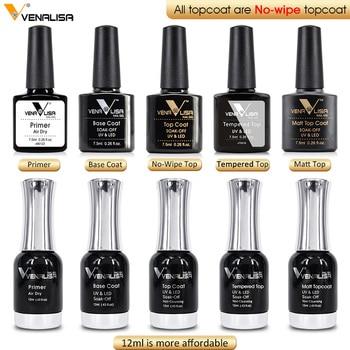 VENALISA Primer No Acid Fast Dry Professional Nail Art Salon Manicure Matt Base Top Soak off UV LED Color Nail Gel Polish 1