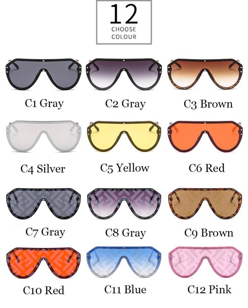 2019 New F Watermark One-piece Sunglasses PC Copy Film Men Women Sunglasses Girls Personality Colorful Fashion Wild Sun Glasse (6)