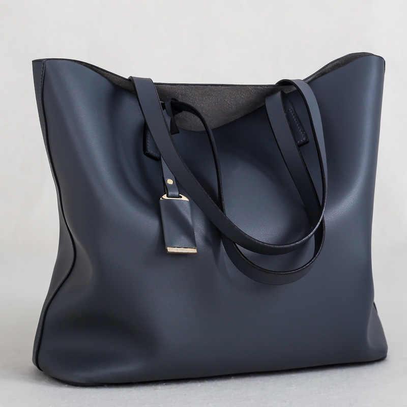 Nova Sacola de Couro Das Mulheres Designer Bolsas bolsa de Ombro Grande Capacidade Sacos de Bolsas Da Senhora Da Forma Saco Crossbody Bolsas