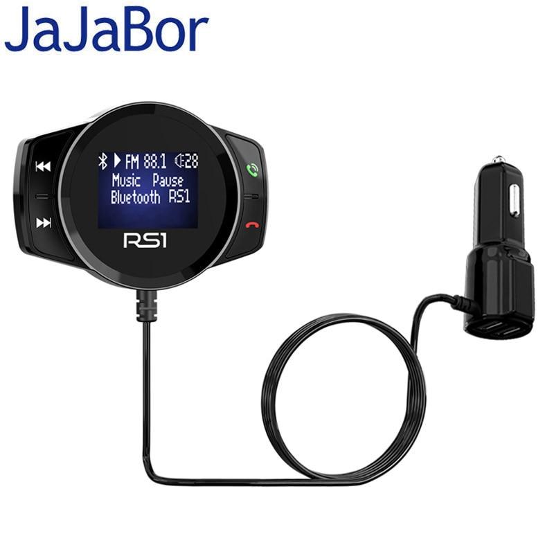 JaJaBor A2DP MP3 Player Do Carro Kit Mãos Livres Bluetooth Carro Transmissor FM Sem Fio Modulador de FM Apoio TF Cartão de Reprodução De Disco U