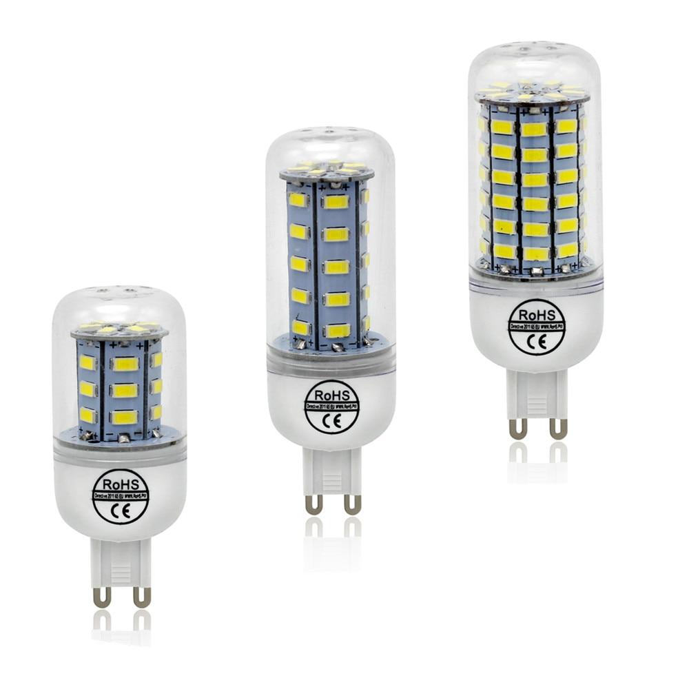 1Pcs ce&rohs SMD 5730 G9 LED Lamp 6W 9w 10W 12w 15W 20w 25W AC 220V Ultra Bright 5730SMD LED Corn Bulb light Chandelier