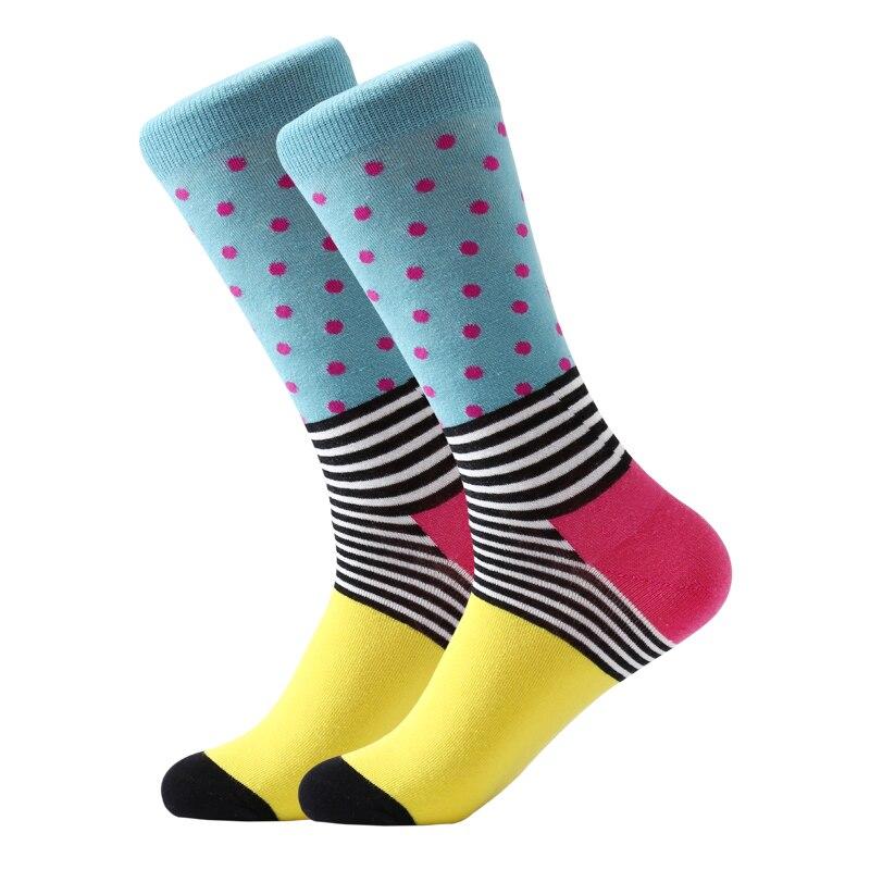 LETSBUY 5 pair lot Men 39 s socks Gradient stripe socks Business dress men popular bright funny socks colorful long wedding gift in Men 39 s Socks from Underwear amp Sleepwears