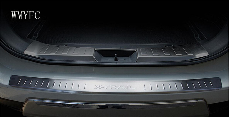 For Nissan X-Trail X Trail T32 2014 -2016 Stainless Rear Bumper Trunk Door Sill Guard Pedal Protector Cover Trim Car Accessory quality retractable rear cargo cover trunk shade security cover black for nissan x trail x trail 2008 2009 2010 2011 2012 2013