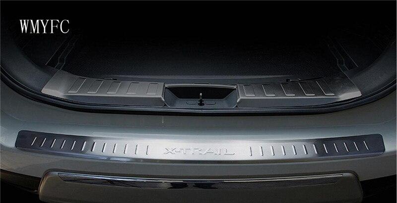 Pour Nissan X-trail X Trail T32 2014-2016 Inoxydable Arrière pare-chocs Tronc Porte Seuil Pédale Garde Protecteur Couverture Garniture De Voiture accessoire