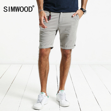 SIMWOOD 2018 Summer New Shorts Men Slim Fit Cotton High Quality Brand Clothing KD5047