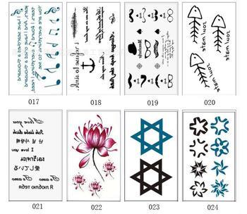 Waterproof Temporary Tattoos Sleeve Owl Fox Artificial Flowers Tattoo Many Designs Sex Men Beauty Body