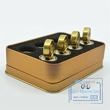 16 pcs/Lot Swiss BSB Golden 7 Beads ILQ 11 Bearing for Inline Speed Skates for SEBA HV WFSC KSJ Powerslide 608 with Iron Box