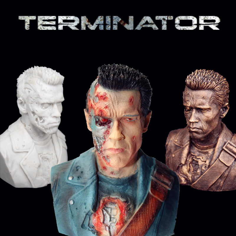 12cm Terminator T800 Metal Skeleton Battle Damage version Arnold bust statue new in stock now in situ detection of dna damage methods and protocols