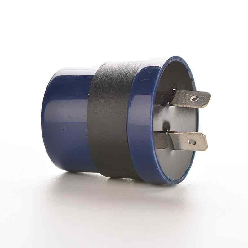 Luz intermitente LED de 6V 12V CC de entrada azul de la motocicleta con luz intermitente incorporada, 2 pines, zumbador de Motor intermitente, 1 unidad
