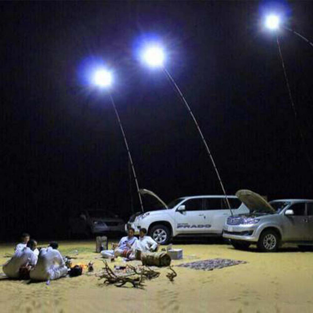 Telescopic COB Rod LED Fishing Outdoor Camping Lantern Light Lamp Hiking BBQ Road Trip Self-drive Travelling Beach Travel Light