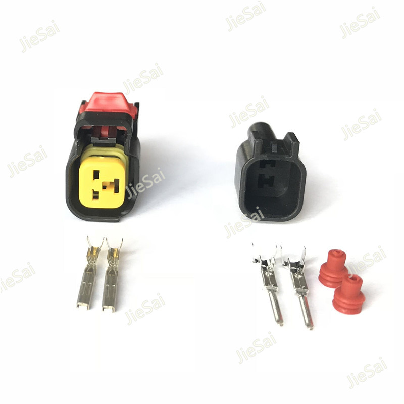 US $9.94 35% OFF 2 Pin Male EV6 Automotive Connector For Injector on
