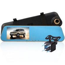 E-ACE A10 Горячая Full HD 1080 P Автомобильный видеорегистратор Камера Авто 4,3 дюйма Зеркало заднего вида цифрового видео Регистраторы Двойной объектив регистрационная видеокамера