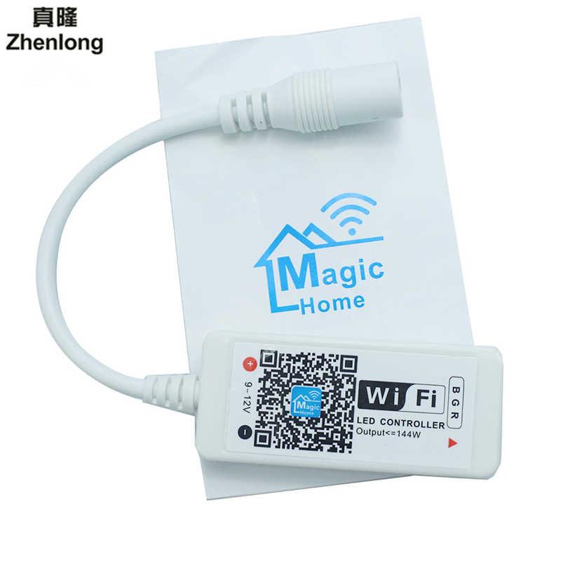 Mini gradateur DC5-24V de contrôle d'app rvb/RGBW de Wifi de LED de contrôle avec la télécommande de 24 clés pour la bande de LED de rvb/RGBW