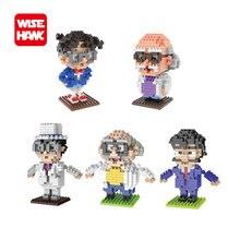 WiseHawk nano blocks anime 3D DIY model Conan Agasa Hiroshi Hakase figures micro diamond plastic building bricks educational toy