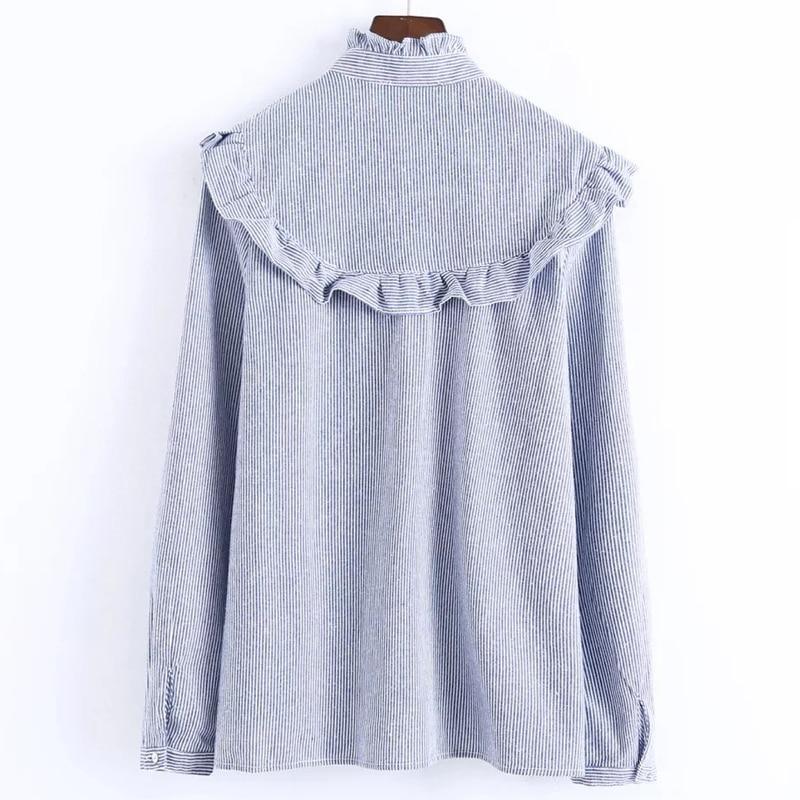 LERFEY Ženska majica za vezenje cvjetne bluze Ruffles Uredske - Ženska odjeća - Foto 4