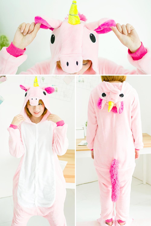 HTB1l6zMSXXXXXXbaFXXq6xXFXXXx - Pink Unicorn Pajamas Sets Flannel Pajamas Winter Nightie Stitch Pyjamas for Women Adults