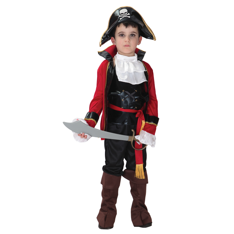 Home Halloween Costume For Kids Pirate Girls Boy Children Christmas Party Captain Pirates Caribbean Jack Sparrow Cosplay Carnival